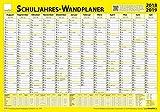 TimeTex Schuljahres-Wand-und Projektplaner für das Schuljahr 2018 - 2019 - 70 x 100 cm - laminiert - abwaschbar - Wandplaner - Schuljahreswandplaner - 10761