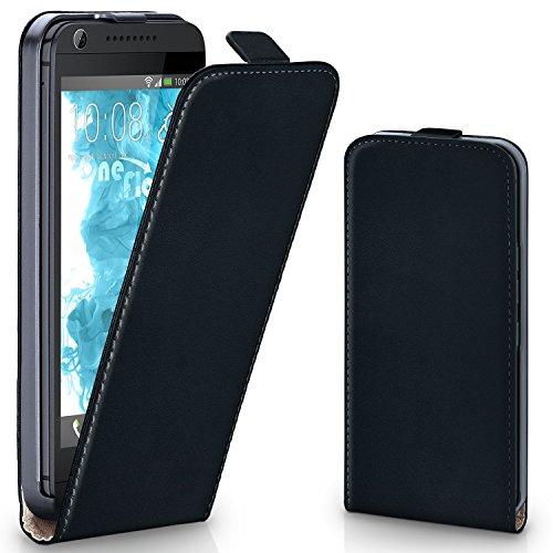 moex HTC Desire 626G | Hülle Schwarz 360° Klapp-Hülle Etui Thin Handytasche Dünn Handyhülle für HTC Desire 626G/626 Case Flip Cover Schutzhülle Kunst-Leder Tasche
