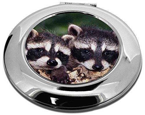 Niedliches Baby Racoons Make-up Rund, kompakt Spiegel Weihnachten Geschenk