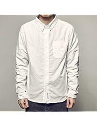 Camisa de manga larga casual camisas hombres patch vintage,L