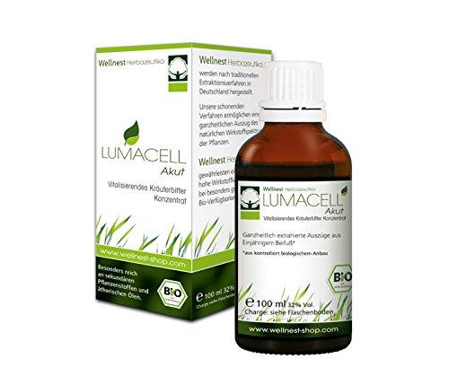 Wellnest Bio LUMACELL Akut Konzentrat 100ml (Artemisia annua / Einjähriger Beifuß)   ohne künstliche Farb- oder Geschmacksstoffe - 100% natürlich und vegan   handgemacht in Deutschland (Tinkturen Chinesischen Kräuter)