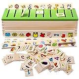 FLAMEER Jouet en Bois - Boîte de Tri Montessori Éducation Précoce pour Éducation