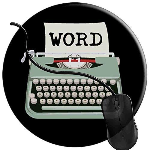 Gaming Mauspad Runde Schreibmaschine Word Oberfläche verbessert Geschwindigkeit und Präzision rutschfest Mouse Pad 2T2747