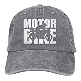 Xukmefat 2019 Adult Fashion Cotton Denim Baseball Cap Motorbike Word with Cutout Silhouette-1 Classic Dad Hat Adjustable Plain Cap 0637