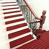 Upgrade Einfache Europa-Stil-Heim Treppe Vustom Kunststoff Anti-Skid Treppen Schritt Matten,Red