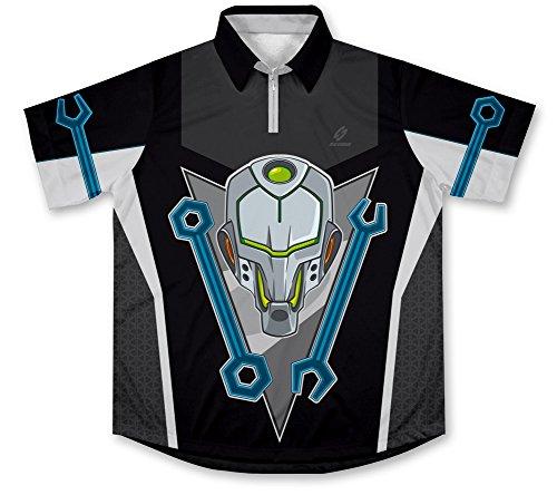 Cyber Mechanic Pit Crew Racing Hemd für Mechaniker (Racing Shirt Crew Pit)