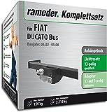 Rameder Komplettsatz, Anhängebock mit 2-Loch-Flanschkugel + 13pol Elektrik für FIAT DUCATO Bus (113382-04893-3)