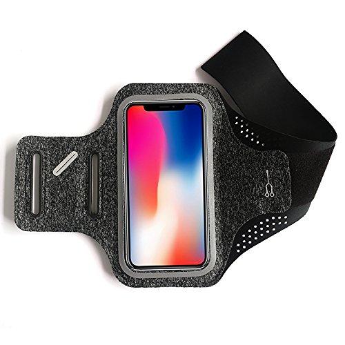 Sportarmband, Gomov Sweatproof Laufsportarmband Extension Strap für iPhone 8/7/6 / 6s Galaxy S6 / S5 / S4 oder jeden Bildschirm bis zu 5,5 Zoll