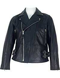 UNICORN Mens Classic Biker style Real Leather Jacket Black #C5
