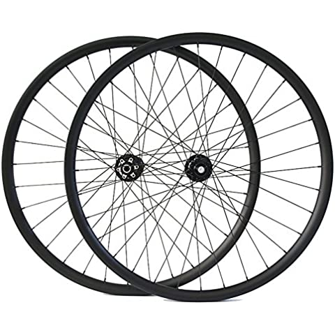 Hulk-sports Carbono Bicicleta MTB Ruedas 29er Montaña bicicleta carbono Juego de ruedas Sin cámara Con Novatec?Disco?Hub UD Mate - Palanca De Apertura Rápida Juego De