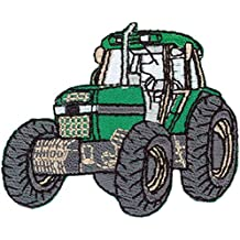 Aufbügelmotiv♥Patch♥Flicken grün mit Auto 2 Stück  ♥Aufbügler♥Applikation NEU