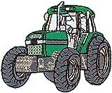 Traktor - grün - Aufnäher Aufbügler Applikation Patch - ca. 6,5 x 5 cm