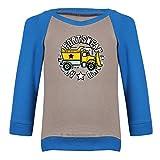 Clifton Baby Boys Raglan Printed Full Sleeve T-shirts -Steel Grey-Royal Blue -Construction -18-24 Months Amazon
