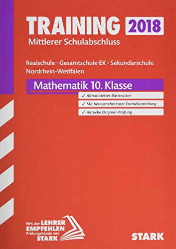 Training Mittlerer Schulabschluss Realschule / Gesamtschule EK / Sekundarschule NRW - Mathematik