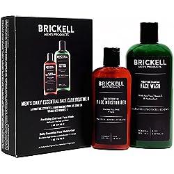 Brickell Men's Daily Essential Face Care Routine II - Gesichtsreiniger und Feuchtigkeitscreme - Natürlich und Organisch