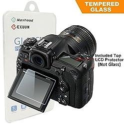 Nikon D500 Tempered Glass Screen Protector Exuun Optical 9H Hardness 0.3mm Ultra-Thin DSLR Camera LCD Tempered Glass With Shoulder Screen Protector for Nikon D500 Digital Camera