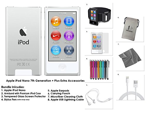 apple-ipod-nano-16gb-silver-extra-accessories-7th-generation-latest-model-released-july-2015