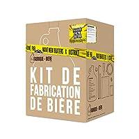 Le Kit de Fabrication de Bière est réutilisable. Il contient le matériel et les ingrédients pour produire une tournéede bière, soit environ 4 litres.