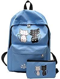 Ode Joy 2Pcs zaini scuola tela studente modello femminile + borsa a tracolla  + sacchetto della penna-Borsa da viaggio… 2f1ed4a24e1