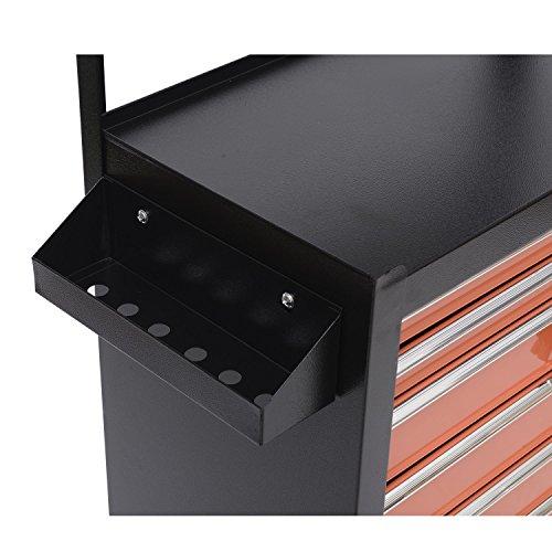 Homcom Werkstattwagen mit Lochplatte, 7 Schubladen, abschließbar - 5