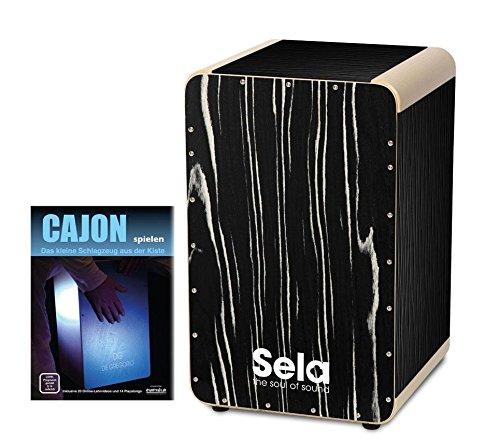 sela-se-024-wave-cajon-black-makassar-set-inkl-cajonschule-mit-herausnehmbarem-snare-system-austausc