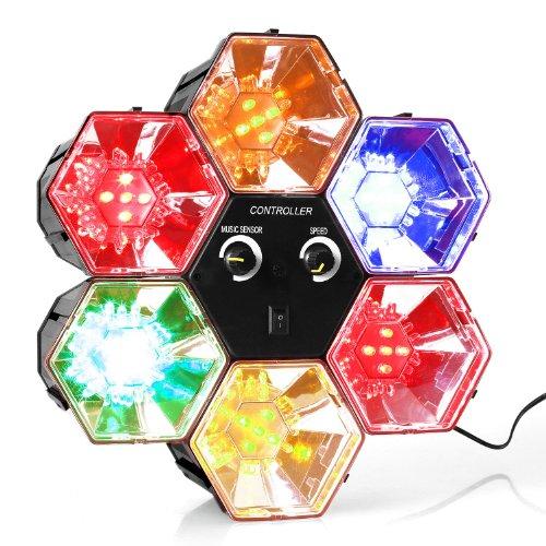 oneConcept RBL1 • Disco-Hexagon • LED-Lichteffekt • Discolicht-Effekt • 6x5 RGB-LEDs • Netz-Betrieb • Automatik-Modus • Musiksteuerung über Bedienpanel • energiesparend • geringe Hitzentwicklung • einfaches Handling • Plastik-Gehäuse • 6 Farben • schwarz