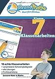 Mathematik Klassenarbeits-Trainer Klasse 7 - StrandMathe: Mathearbeit simulieren, Ergebnisse prüfen, selbst benoten, Lernlücken aufdecken!