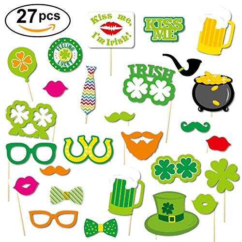 St. Patricks Day Party Foto Aufkleber Photo Dekoration Kleid Kit (Packung mit (Patricks Party St)