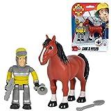 Feuerwehrmann Sam - Spiel Figuren Set - Tierrettung Sam & Pferd