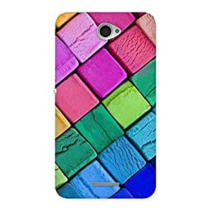 Gorgeous Block Colors Print Back Case Cover for Sony Xperia E4