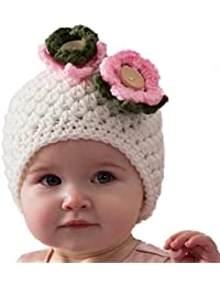 Love Crochet Art Floral Kiss - Baby Beanie Cap For Infant New Born