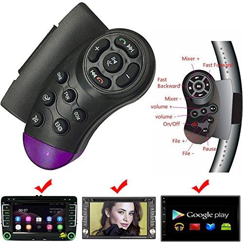 Sedeta Controlador Remoto inalámbrico del Volante del Jugador de DVD del Coche del DVD con el Interruptor de del Volumen de Audio para Auto DVD GPS Sistema de navegación
