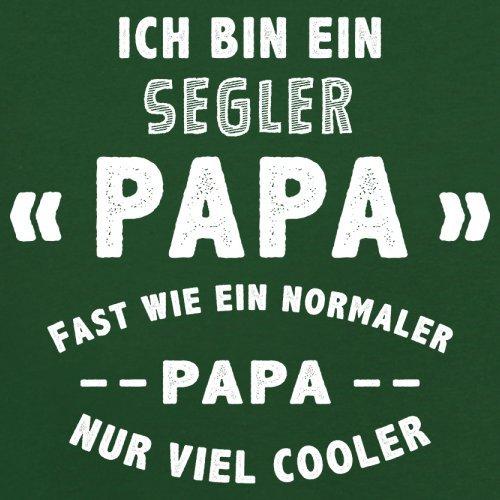 Ich bin ein Segler Papa - Herren T-Shirt - 13 Farben Flaschengrün