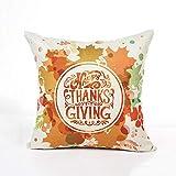 SKYyao Pillowcase Cotton, Thanksgiving Leaf Pillowcase Linen Print Hold Pillowcase Sofa seat Cushion Cover 45 * 45cm