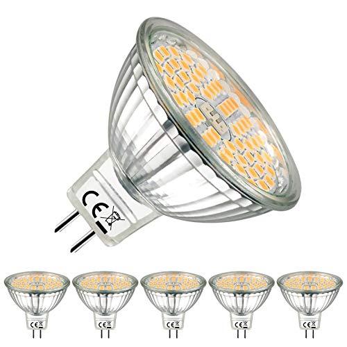 EACLL GU5.3 LED, Warmweiß 2700 Kelvin, MR16 LED 12V 5W LED Leuchtmittel Kann perfekten Ersatz für 50W Halogenlampe, 500 Lumen LED Lampe,120° Abstrahlwinkel LED Birnen. 5er-Pack -