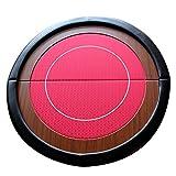 EBS Table Plateau de Poker Casino Pliable en Feutre Rouge - Ronde