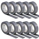 10 rouleaux VDE Ruban Isolant Électrique Bande Isolatrice PVC 15mm x 10 DIN EN 60454-3-1 couleur: gris