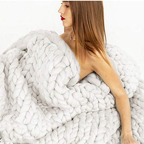 Hot-Bed Chunky Knit Throw Sofá Manta voluminosos