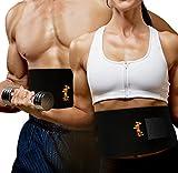 Bauchweggürtel/Waist trimmer für Frauen und Männer - Fitnessgürtel zum Schwitzen - Schwitzgürtel 120 cm