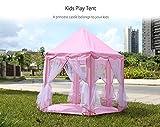 CANALOHA CPT012 - Tienda de Campaña Plegable Infantil de Rosa para Niñas, Estilo Princesa