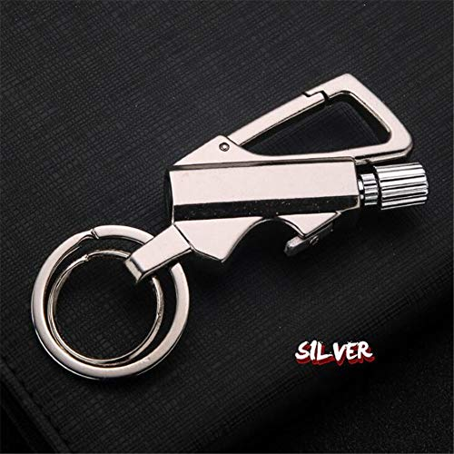 Amara Keychain Permanente Match Lighter Apribottiglie,fiammiferi Metallici Lighter,Impermeabile, Multifunzione, Portatili, Oggetti da Collezione,Camping Survival Gear(2 Pezzi),Ancient-Nickel