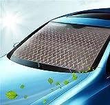 SUAIBEI Sommer Auto Sonnenschutz Sonnenblende Frontscheibe Windschutzscheibe UV-Schutz Sonnenschirm Nylon silber , D