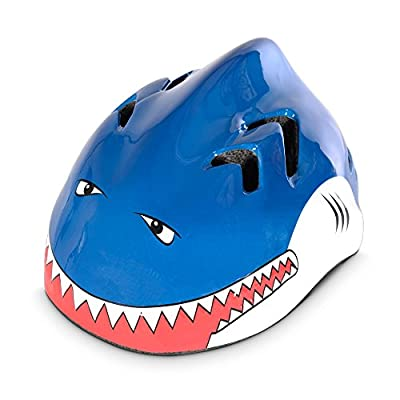 Oxford Little Animal Children Helmet - Shark, 48-52cm / Kid Child Toddler Pre School Infant Youngster Young Age Boy Girl Unisex Bicycle Cycling Cycle Biking Bike Accessories Safety Safe Hat Hard Shell Protection Protective Protect Head Skull Upper Body Cl