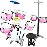LIUFS-Trommel Kinderspielzeug Schlagzeug Anfänger Spielzeug Musik Klopfen Schlagzeug 3-8 Jahre Alt Junge Geschenke Erste Schritte (Farbe : B)