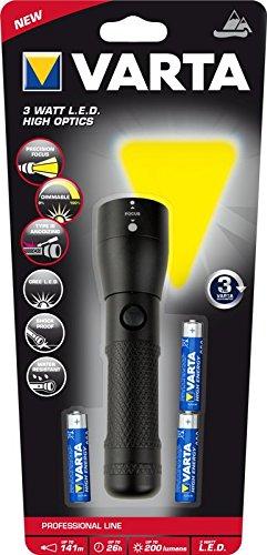 Varta Profi Line–Pack von 4Taschenlampen 3Batterien (3W)