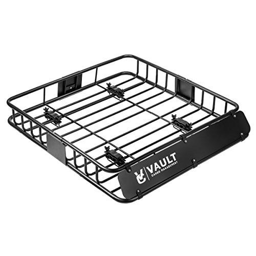 Bandeja universal para techo diseñada para fijar a tu vehículo mediante barras para crear un techo perfecto para equipaje, cajas, o bolsas de viaje (112 cm x 99 cm x 12.7 cm)