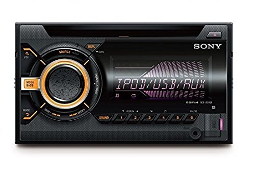 Navigation Stereo Din Double Car (Sony WX-900BT 2 DIN CD Autoradio (NFC Bluetooth, USB und AUX Anschluss, Apple iPod/iPhone Control Funktion) für Radio/MP3/WMA/FLAC schwarz)