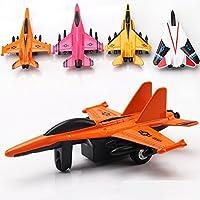 """Avión de juguete de metal fundido de 4.5 """", paquete de avión de 4"""