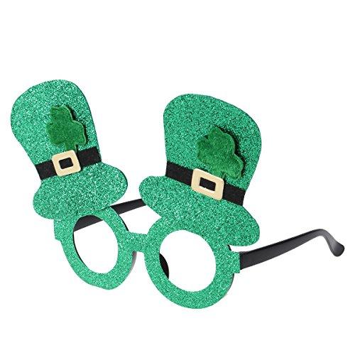 k's Day irisches Kleeblatt Grün Leprechaun Kostümbrille ()