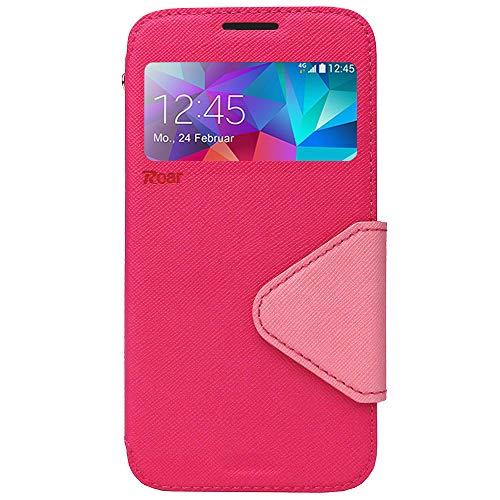 Roar Xperia Z2 Flip Handy Hülle, Flipcase Handyhülle, Flipcover Handytasche, Premium Klapp Tasche für Sony Xperia Z2, Pink Rosa